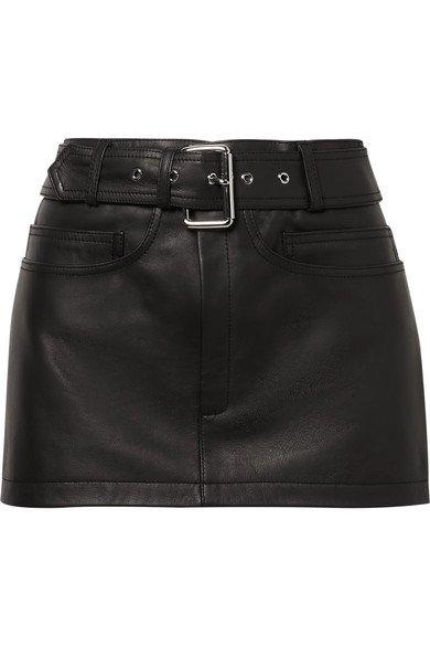 Alexander Wang | Belted leather mini skirt | NET-A-PORTER.COM