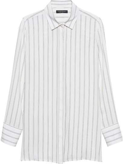 Parker Tunic-Fit Stripe Shirt