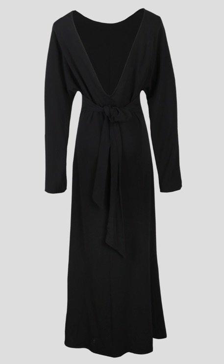 Viktoria Chan black dress