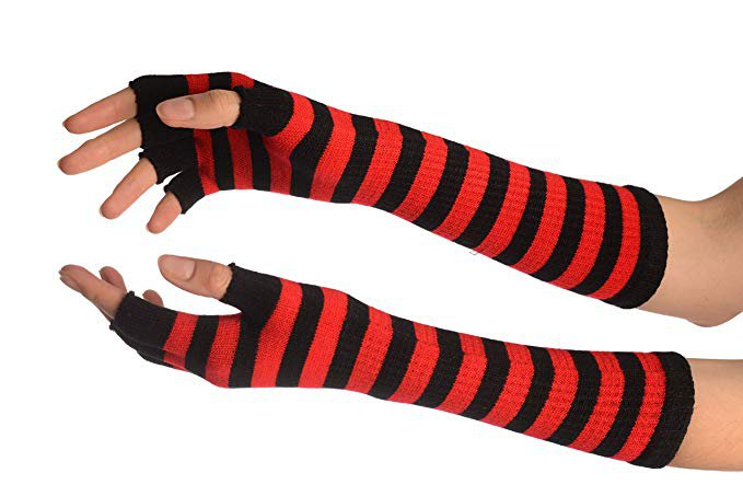 red and black fingerless gloves - Google Search