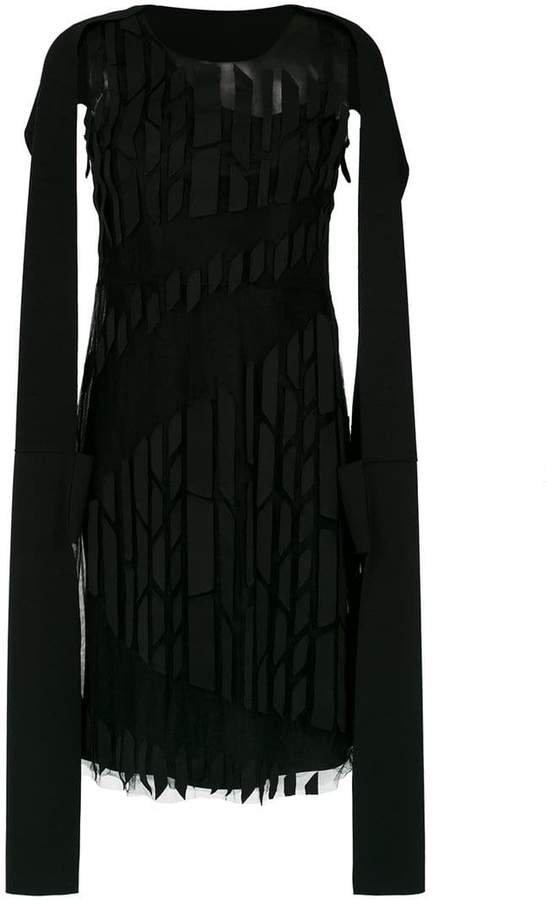 Gloria Coelho panelled cape dress