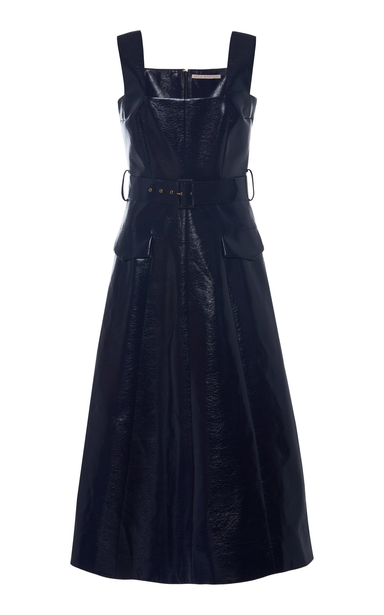 Emilia Wickstead Petra Belted Lurex Midi Dress