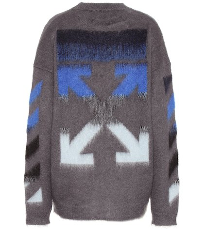 Mohair and wool blend sweater