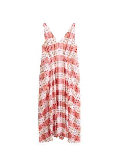 MANGO Checked cotton dress
