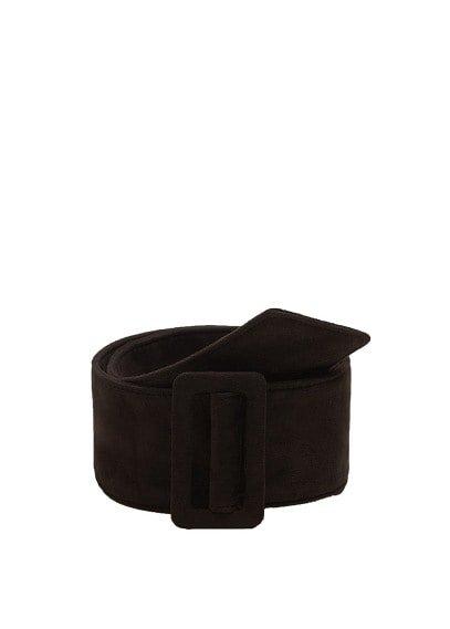 MANGO Wide suede belt