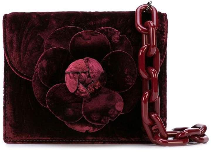 floral shape tote bag