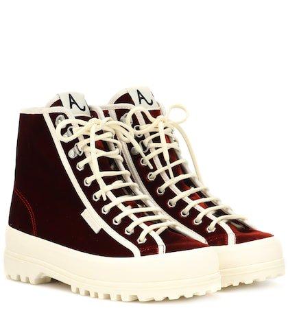 X SUPERGA® Velvet Alpina sneakers