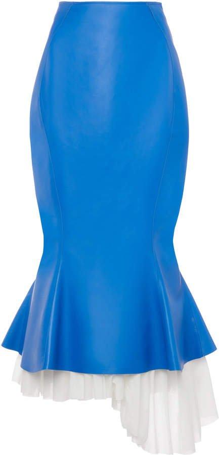 Marni Leather Trumpet Midi Skirt Size: 36