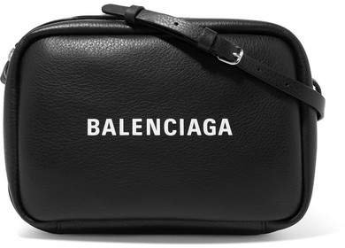 Everyday Printed Textured-leather Camera Bag - Black