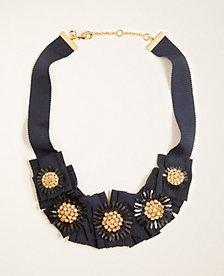Crystal Ribbon Necklace | Ann Taylor