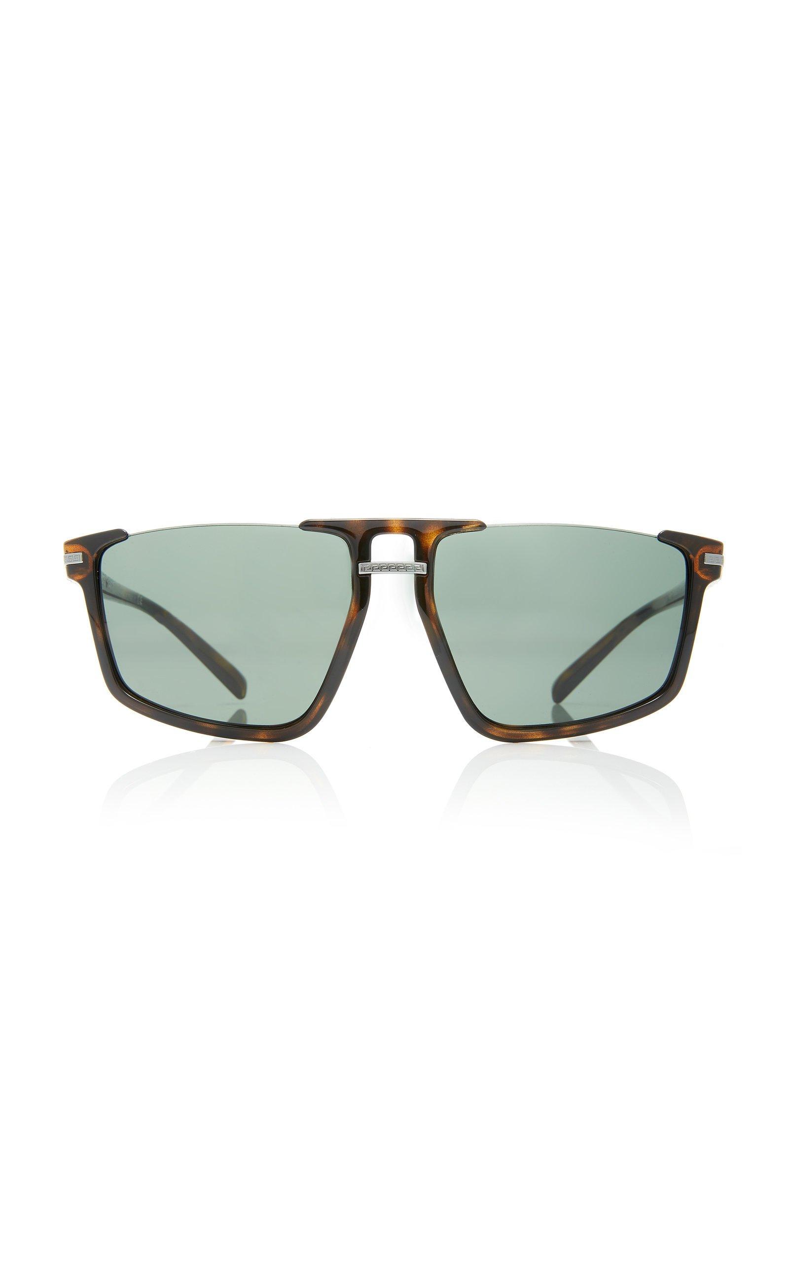 Versace Square-Frame Tortoiseshell Acetate Sunglasses