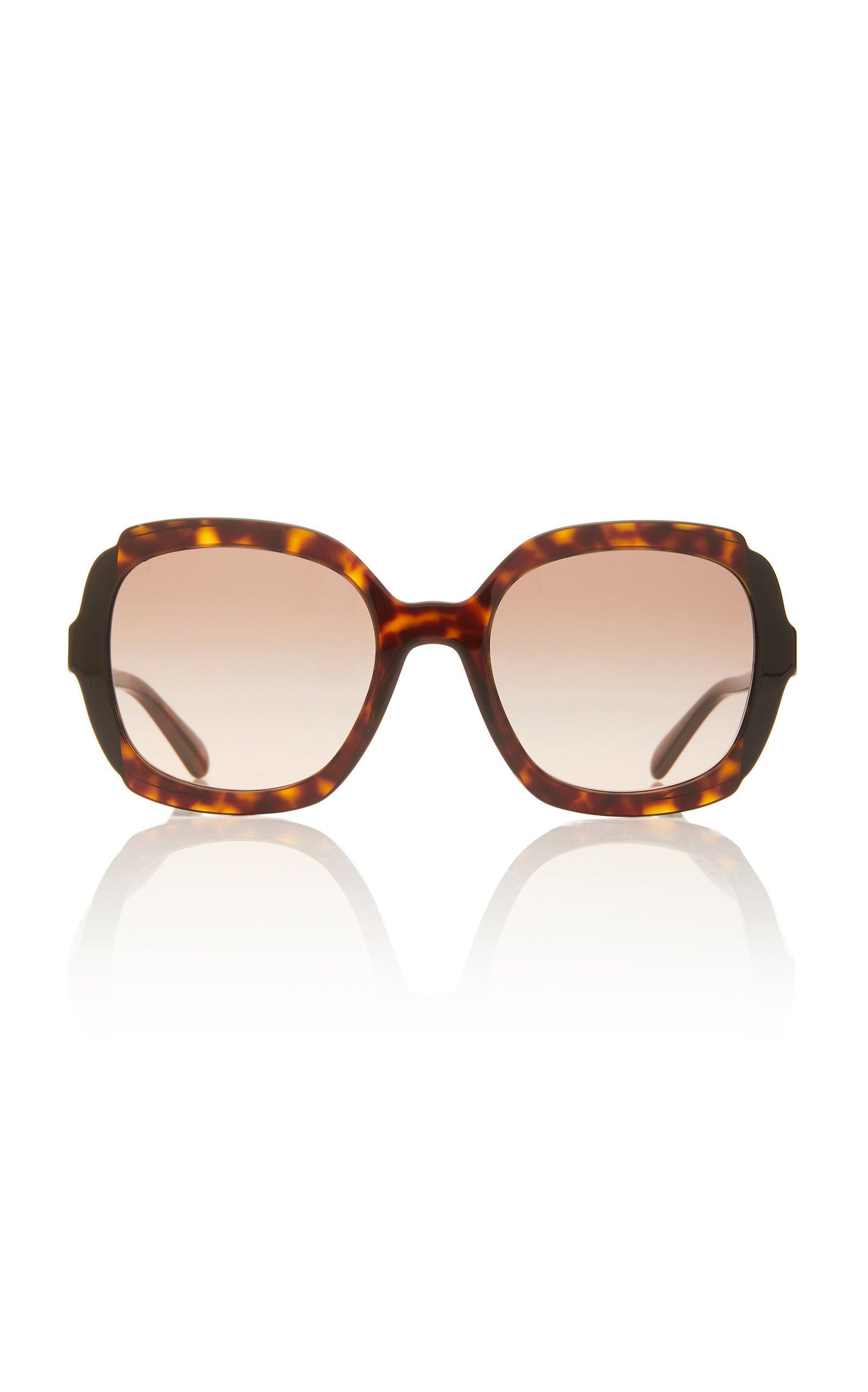 Prada Sunglasses Round-Frame Acetate Sunglasses