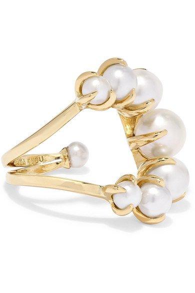 Ana Khouri | 18-karat gold pearl ring | NET-A-PORTER.COM
