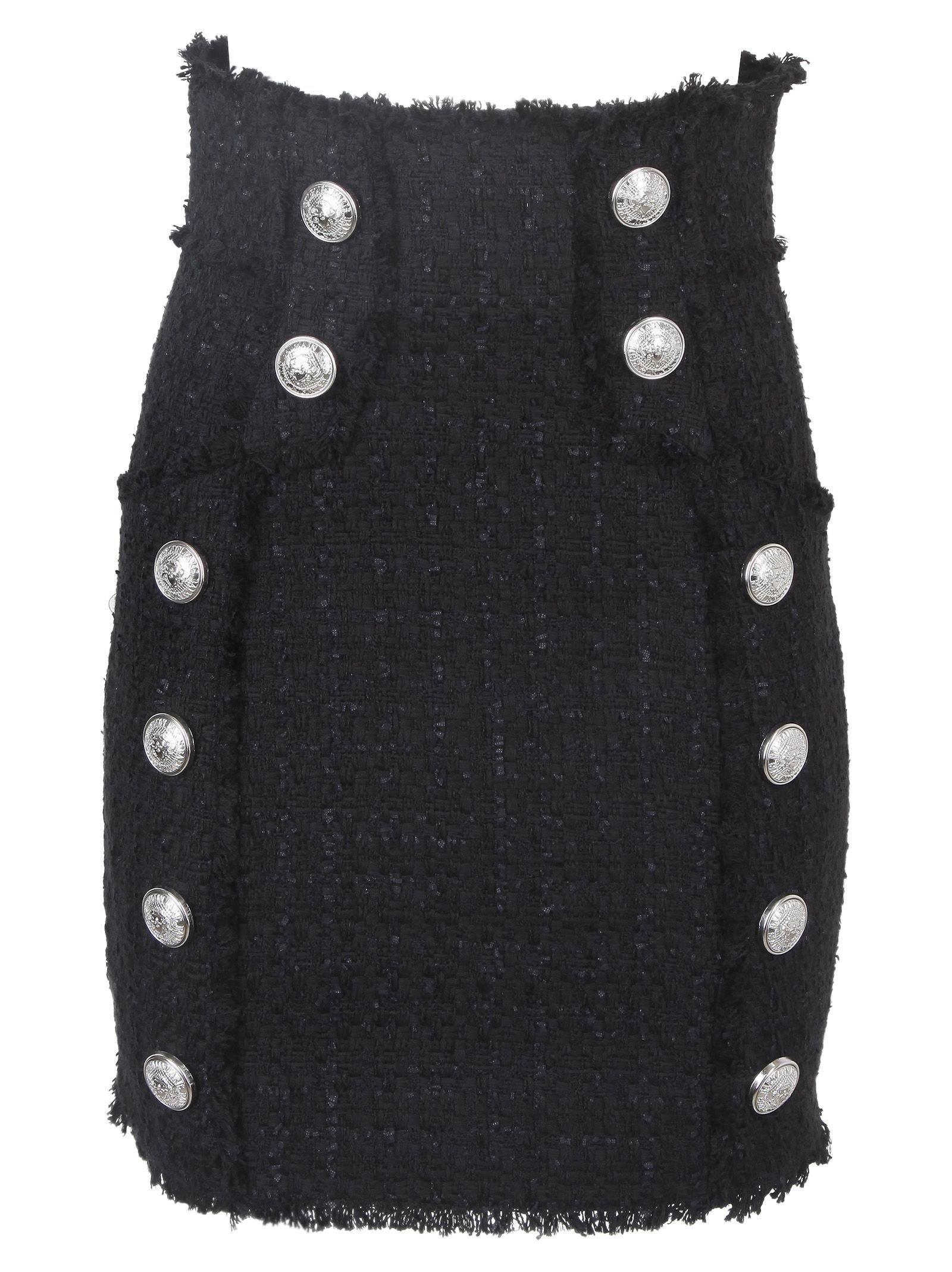 Balmain High Waist Mini Skirt