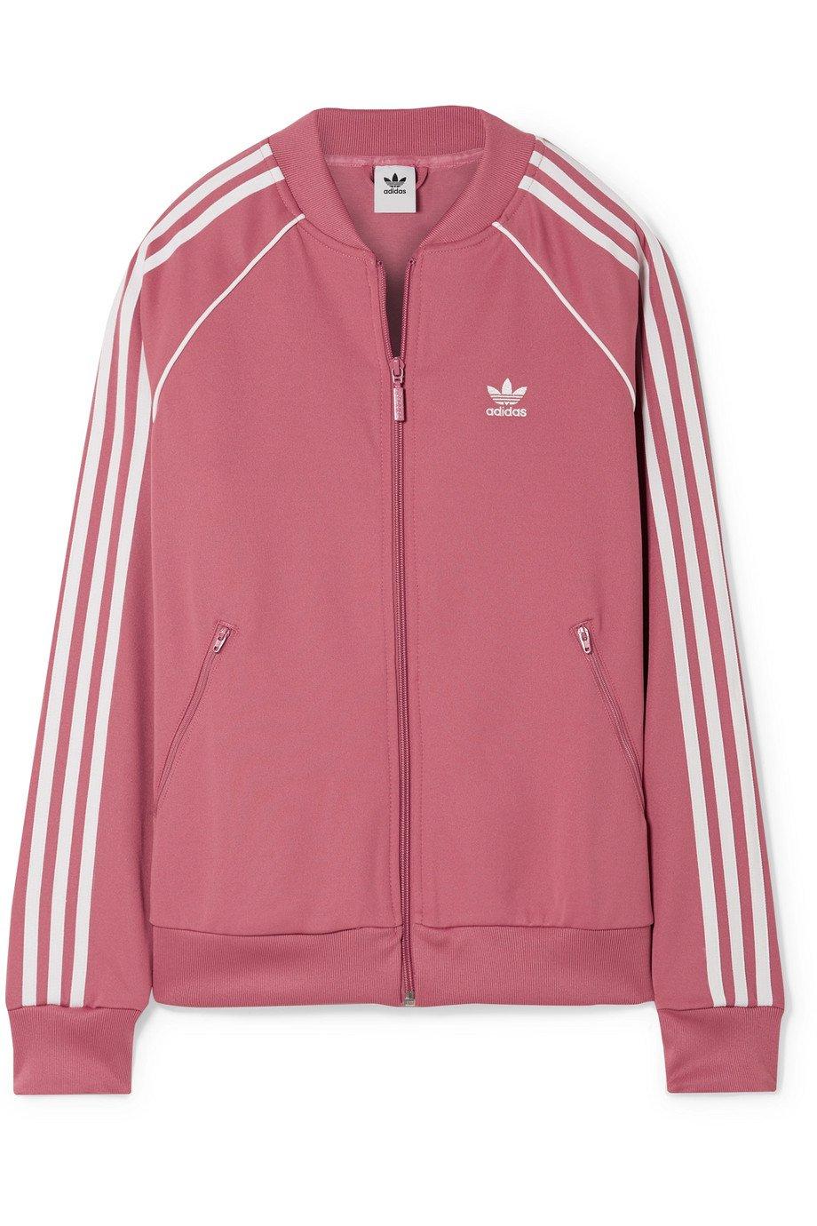 adidas Originals | SST Striped jersey track jacket | NET-A-PORTER.COM