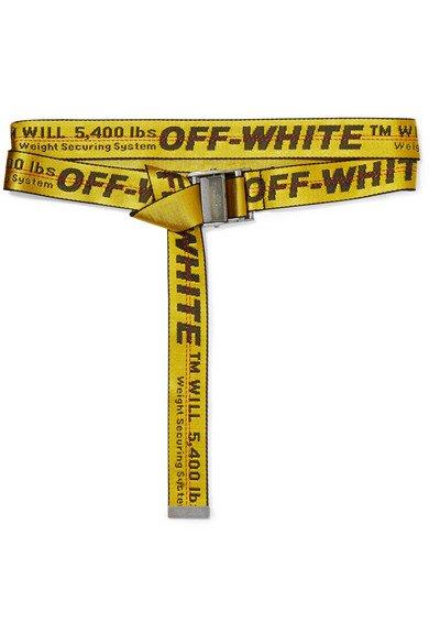 Off-White   Canvas-jacquard belt   NET-A-PORTER.COM