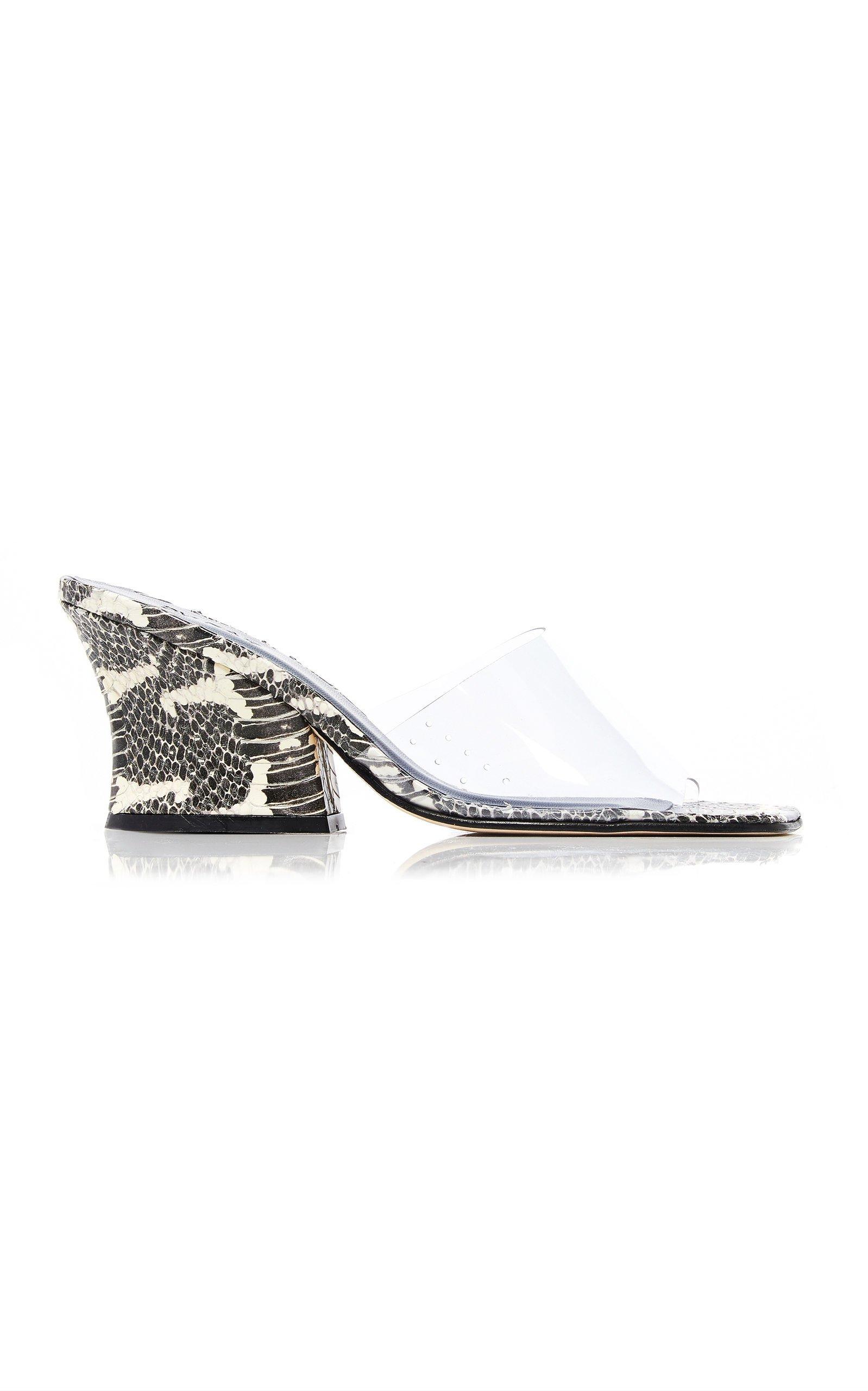 Dolly Leather Pvc Sandals by by FAR   Moda Operandi