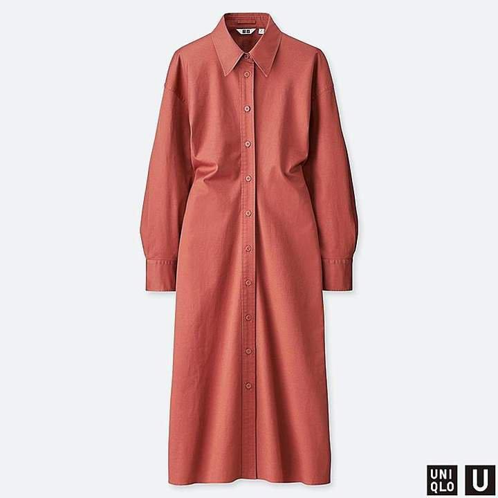Women's U Shirt Long-sleeve Dress