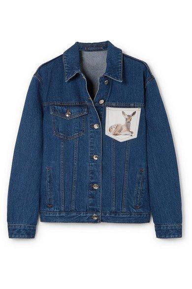 Burberry   printed denim jacket
