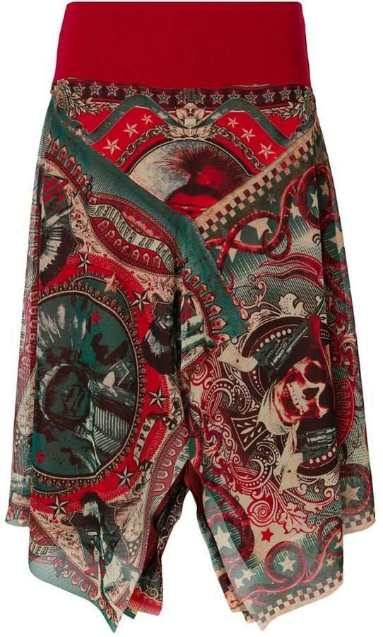 Pre-Owned sheer printed skirt