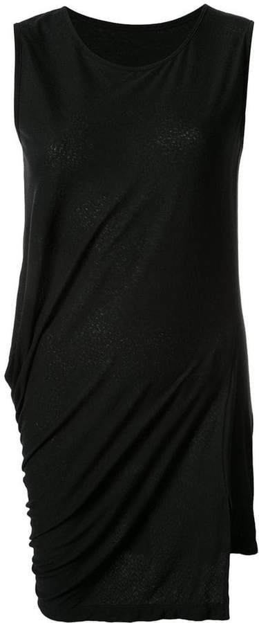 ruched long tank top