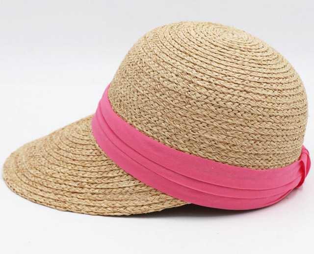 Ribbon Nature Raffia Straw Sun Visors 2018 Women Summer Straw Visor Beach Caps Ladies Handmade Natural Hats-in Sun Hats from Women's Clothing & Accessories on Aliexpress.com