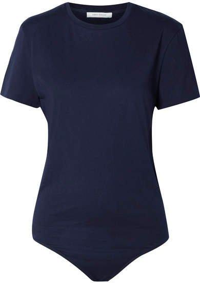Ninety Percent - Trudy Organic Cotton-jersey Bodysuit - Navy
