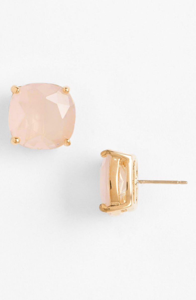 kate spade new york mini small square semiprecious stone stud earrings | Nordstrom