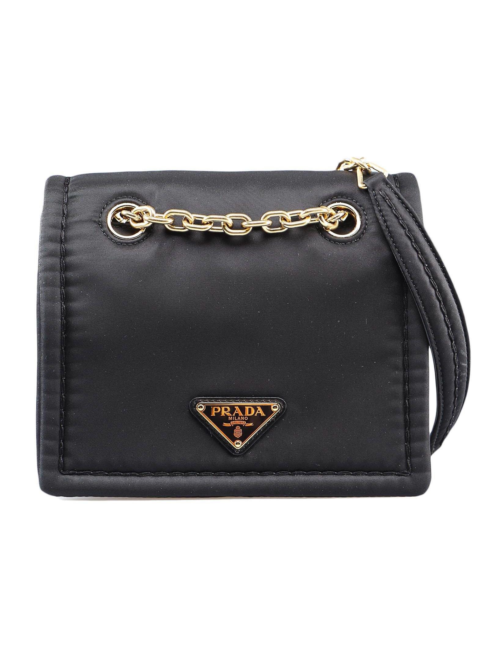 Shoulder Bag Tessuto Chain