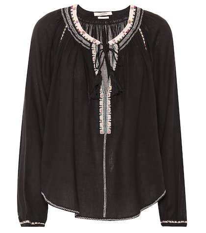 Rina embroidered cotton top