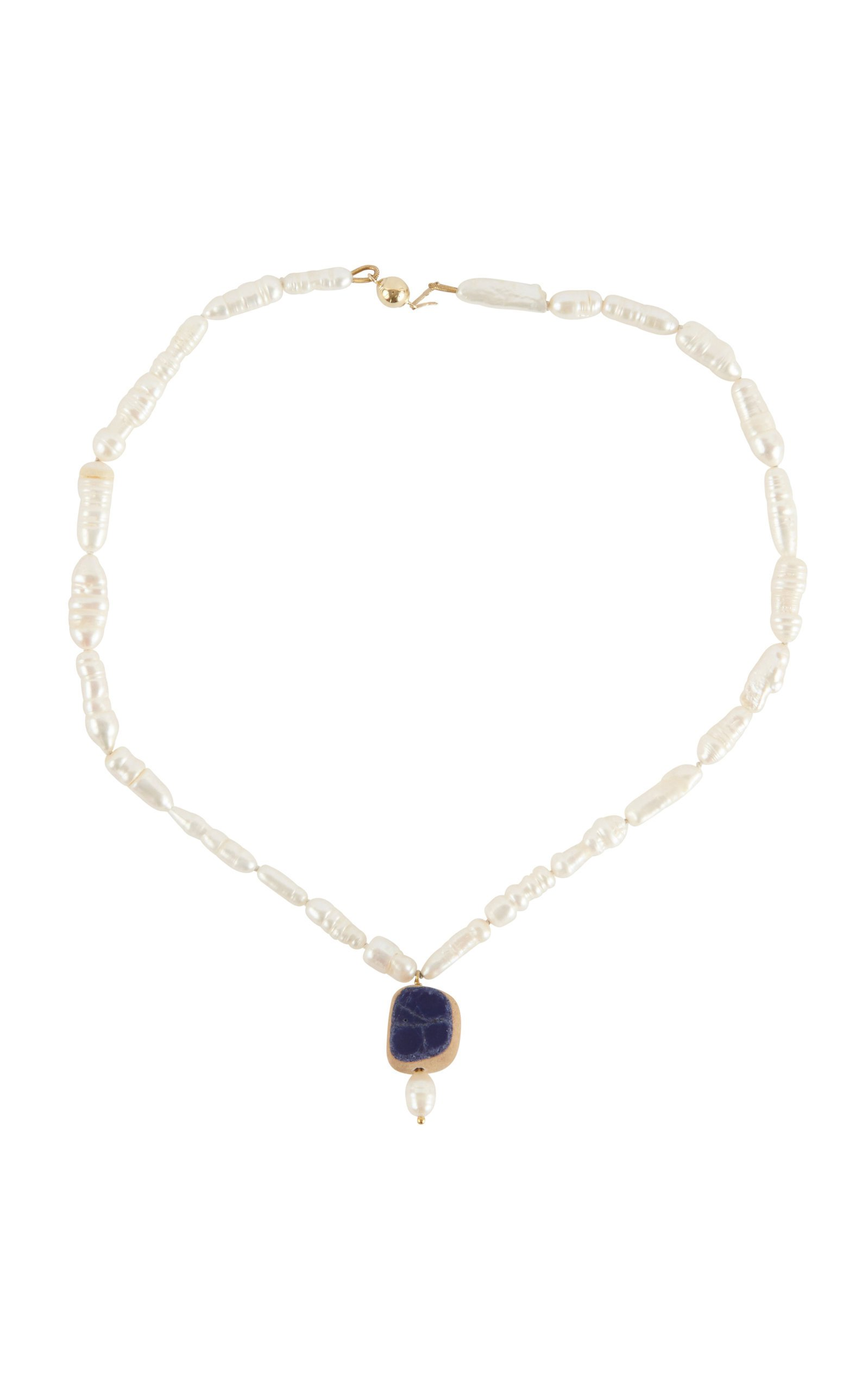 Holly Ryan Sorrento Pearl Necklet with Terracotta Detail