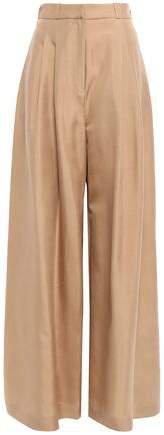 Pleated Silk Wide-leg Pants