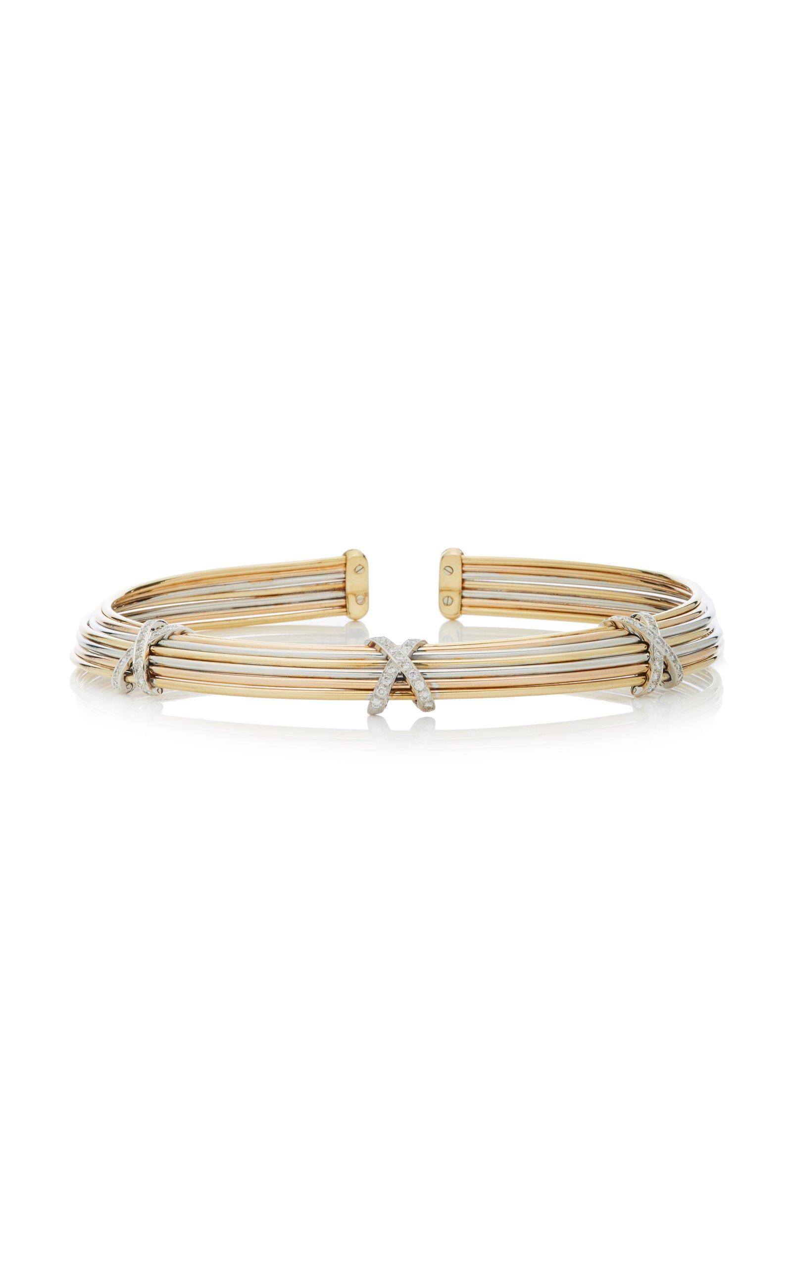 Giovane 18K Tri-Gold Diamond Necklace