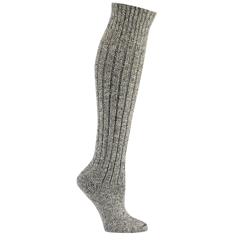 knee high grey wool socks