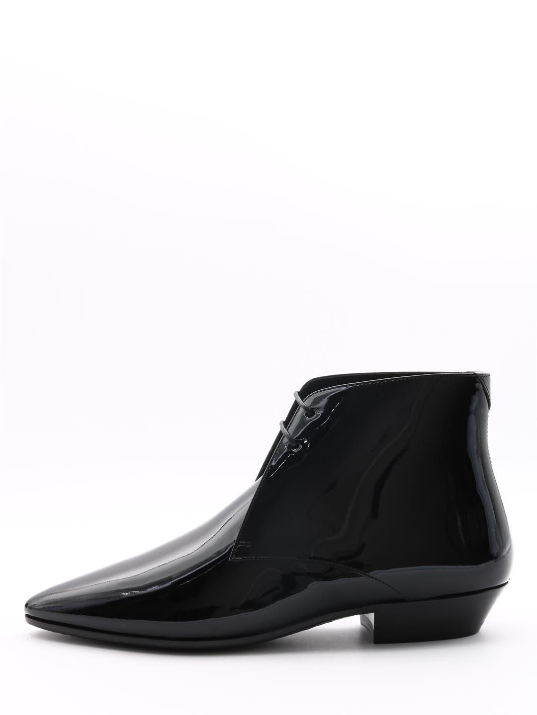 Saint Laurent Patent Jonas Ankle Boots