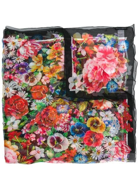 Dolce & Gabbana multicoloured floral print scarf
