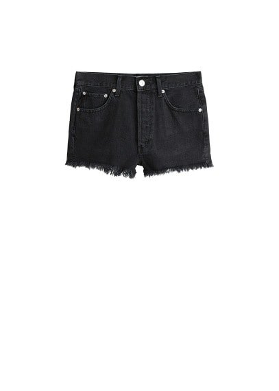MANGO Ripped-detail denim short