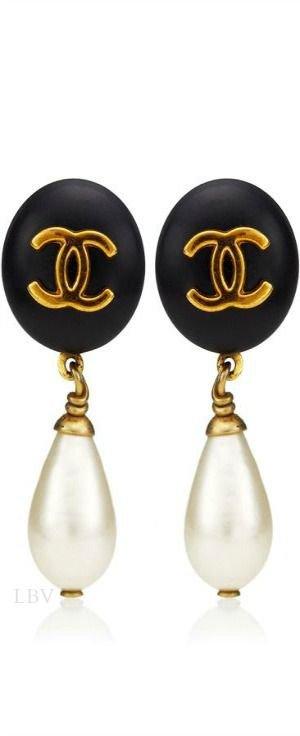 coco chanel pearl earrings - Google Search
