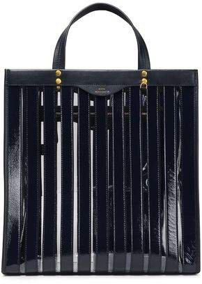 Multi Stripes Leather And Pvc Tote