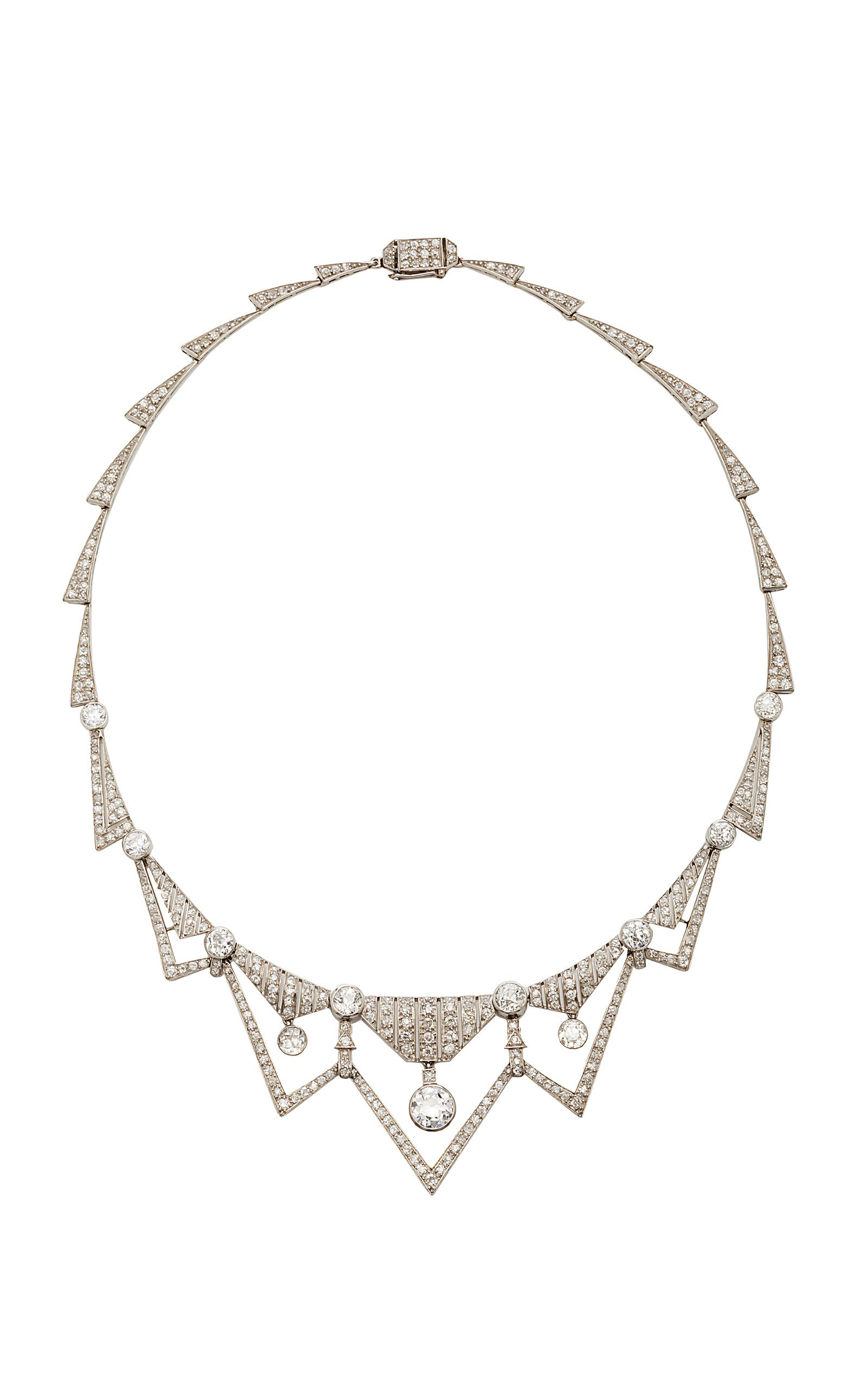 Art Deco Diamond Necklace by Simon Teakle | Moda Operandi