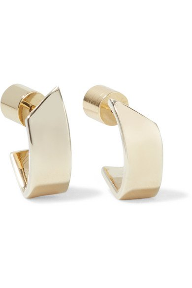 Jennifer Fisher | Pod Huggie gold-plated hoop earrings | NET-A-PORTER.COM