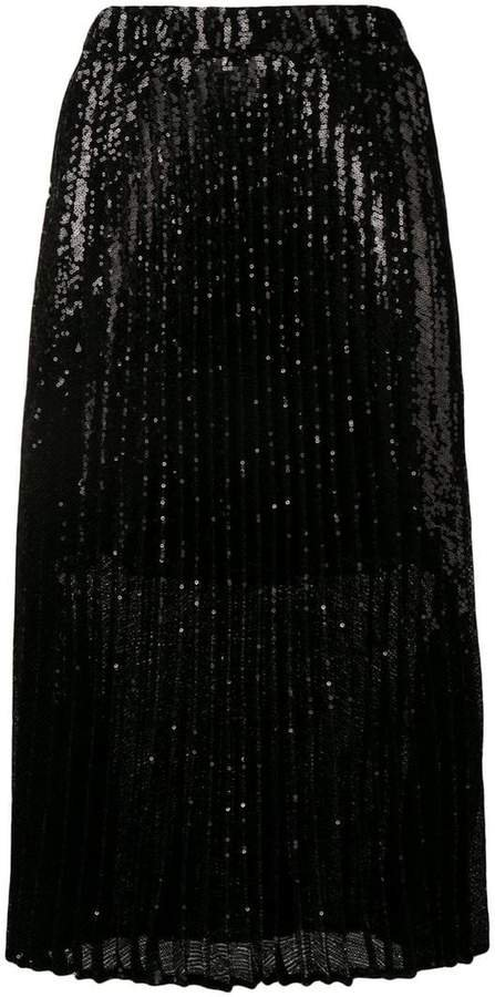 pleated sequin skirt