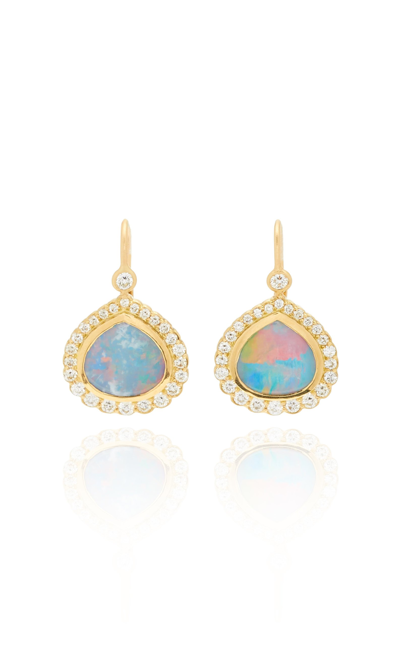 Jamie Wolf 18K Yellow Gold Opal And Diamond Bisou Earring
