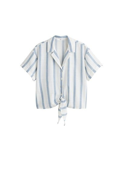 MANGO Knot cotton shirt