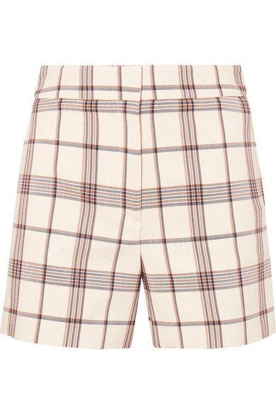 Maje | Checked twill shorts | NET-A-PORTER.COM