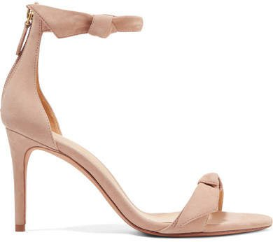 Clarita Bow-embellished Suede Sandals