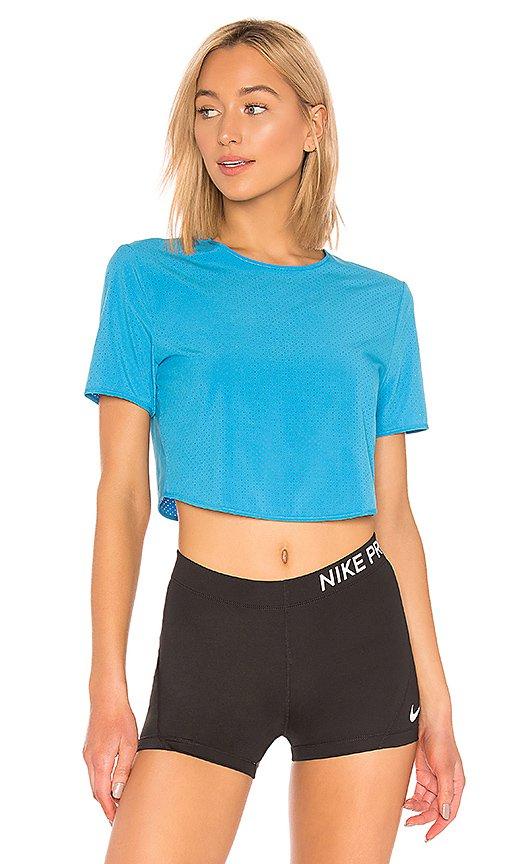 Nike NRG NWCC Tee in Blue Hero   REVOLVE