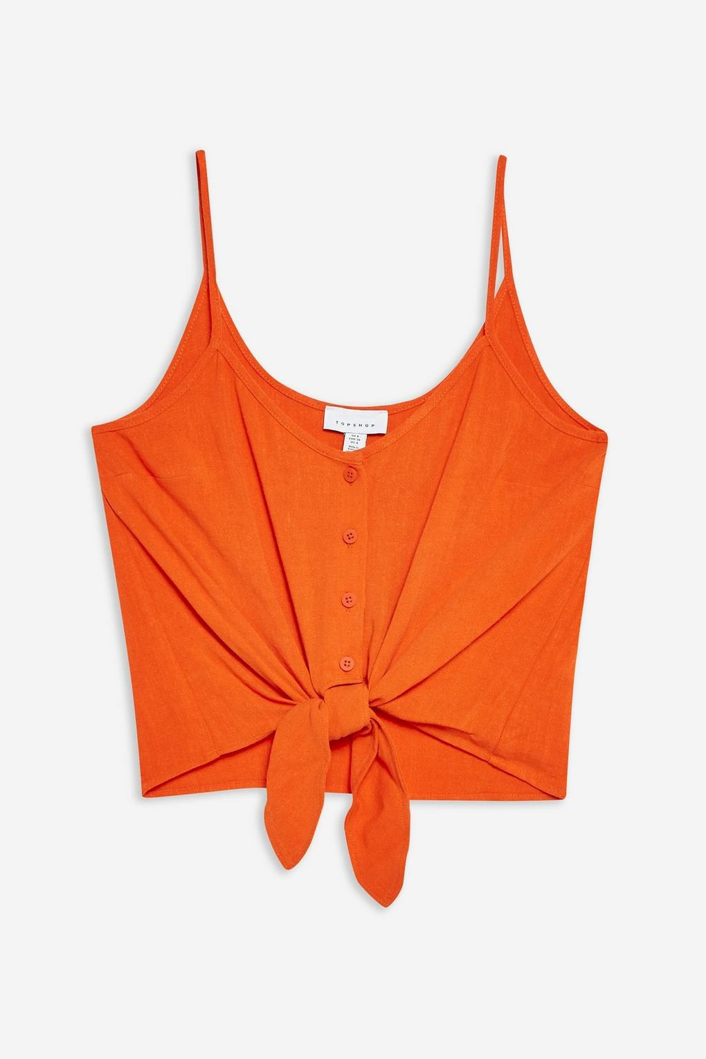 Tie Front Camisole Top - Clothing- Topshop USA