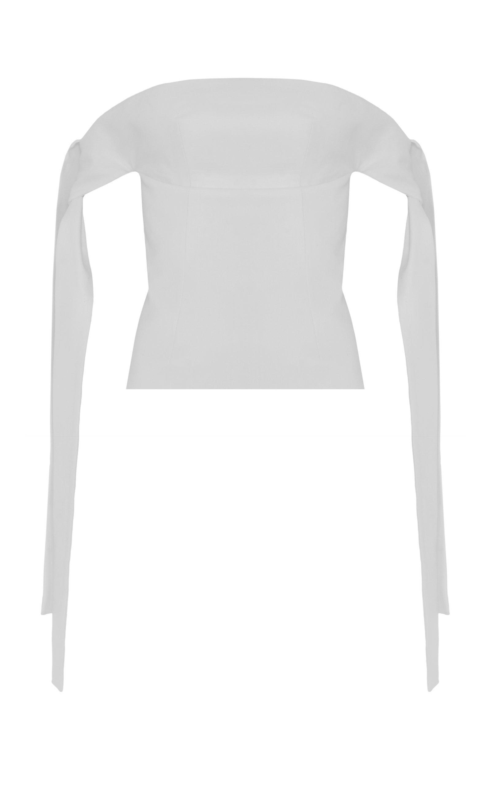 Lado Bokuchava Off-The-Shoulder Cotton Corset Top