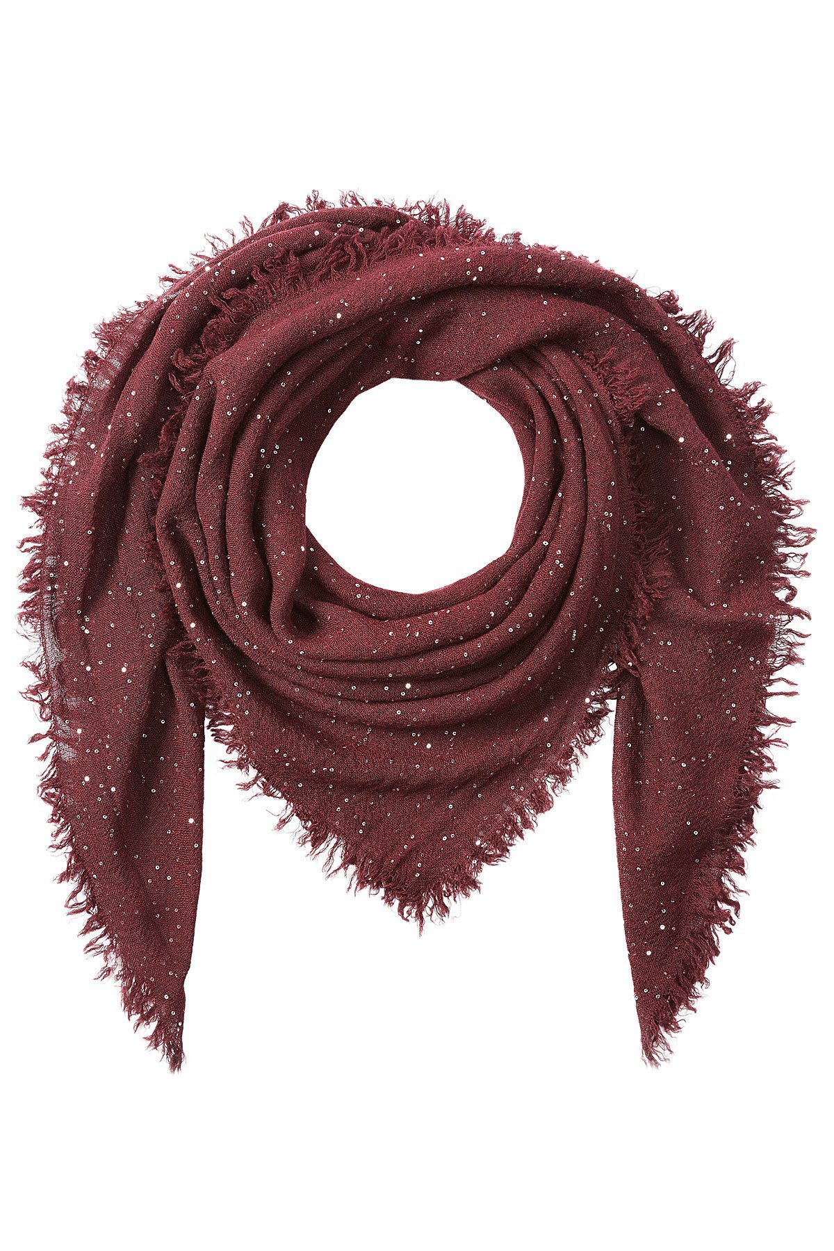 Scarf with Virgin Wool, Silk and Cashmere Gr. One Size